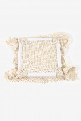 Tambour carré blanc 43 x 43 cm