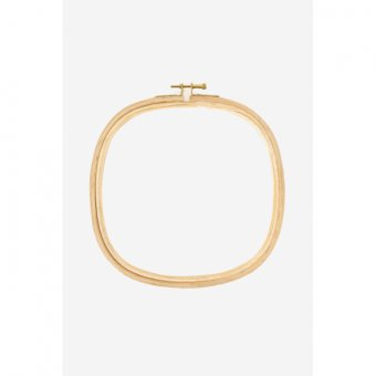 Square Wooden Hoop - 8 Inch