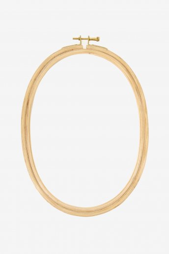Oval Wooden Embroidery Hoop 18 cm X 24cm