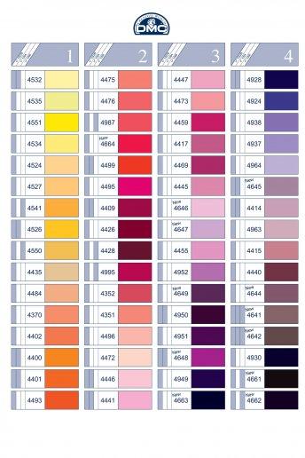 Farbkarte Nähgarn Polyester - gedruckt