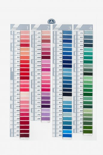 Coton a broder (special embroidery) shade card (thread)