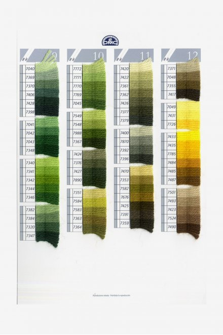 Carta de colores lana colbert art. 486  w125a