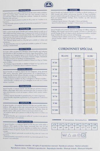 Fils a dentelles & cordonnet shade card (thread)