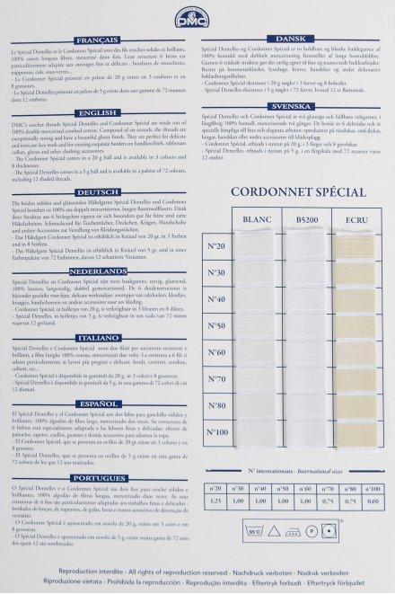 Cartella colori Cordonetto / Spécial Dentelles art.151-19 W151A