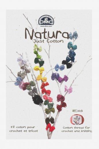 Farbkarte Natura Häkelgarn - mit Garn