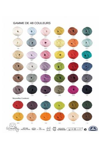 Woolly yarn colour card