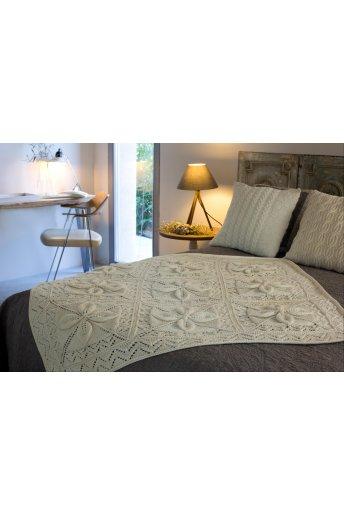Modèle plaid en laine woolly