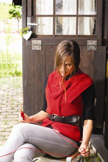 Modèle gilet sans manches en laine woolly